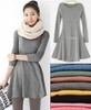 free shipping 10 colors women&#39;s ladies&#39; long sleeve Grinding wool comfortable dress, Joker maxi casual dresses(China (Mainland))