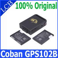 100% coban Mini GPS102B TK102B GPS Tracker 4 band Memory slot shock sensor full accessories!