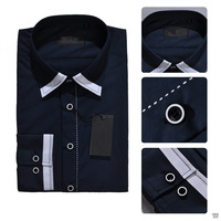 Hot Sale!!! Formal Fashion Cotton Men's Shirts Outer Suits Long Sleeve Shirts For Business and Party