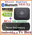 10pcs=5pcs RC11+5pcs MINIX NEO X5 RK3066 Dual Core Cortex A9 Google Android TV Box with Bluetooth USB RJ45 HDMI Internet 1080P