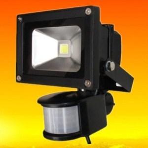 10pcs Fedex Free shipping 10W 20W 30W 50W waterproof IP65 AC85-265V PIR Motion sensor led floodlight flood light parking sensor