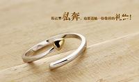 Luxury 100% genuine 925 sterling silver HEART wedding ring for women ewelry HZ1733