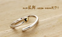 Luxury 100% genuine 925 sterling silver HEART wedding ring for women ewelry HZ1733