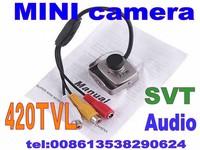Wholesale Super Micro Monochrome Color Wired CMOS 420TVL Mini Camera Monitor