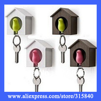 10pcs New 2014 Novelty Lover Sparrow Key Ring Birdhouse Keychain Gadget Home Bird Key Chain Trinket Souvenir-- CPA07
