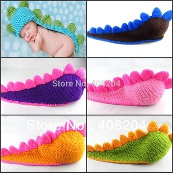 animal Dinosaur cap Hat - Newborn Baby Photography Prop - Handmade Crochet knitted girl boy hat 6 colors