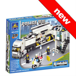 Police Truck 511pcs building block sets,children the toys free Shipping!(China (Mainland))