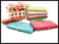 Hot-selling fashion fluorescent shiny women's wallet long candy color card holder evening bag