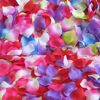 2000Pcs Artificial Rose Petals, Wedding  Party Decoration, Wedding Silk Craft Petals Free Shipping