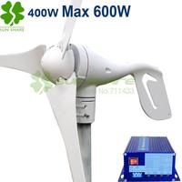 Free shipping small wind turbine max power 600w +700w wind solar hybrid controller for (400w wind generator +300w solar panel)