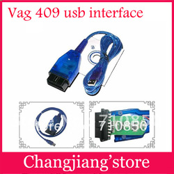 Good service vag com 409 1 usb obd ii diagnostic cable vag com 409 interface compatible usb vag 409 RL Chip(China (Mainland))
