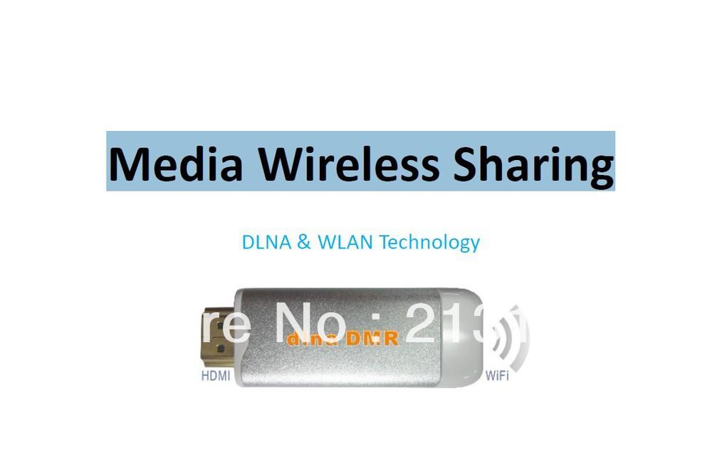 Free Shipping Wireless DLNA HDMI Media Sharing WIFI TV Dongle Freelink 1080p media wireless sharing tv phone wireless pc photo(China (Mainland))