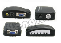 AV S-Video BNC RCA to VGA TV Video converter Switch box,