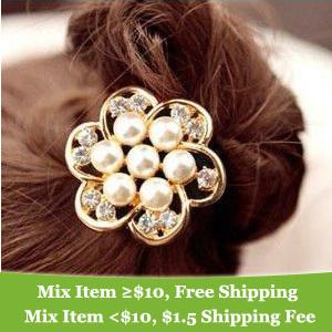 fashion charming big flower hair band hair clip hair jewelry! cRYSTAL sHOP(China (Mainland))