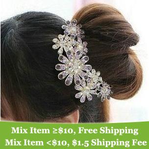 fashion noble elegant lovely Rhinestone Flower hair band hair clip hair jewelry ! cRYSTAL sHOP(China (Mainland))