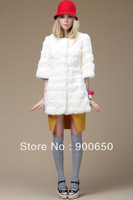 True Rex Rabbit Fur  Top Fashion 2013 New Winter Coat Jacket With Candy Color And Layered Design