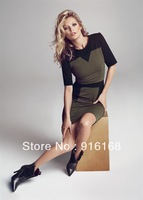 2013 Free shipping autumn and winter fashion NEW STYLE dress for women original foreign trade brand women's paneled dress