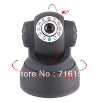 Promotion!!! All-in-One IR LED PT Dual Audio Nightvision Wired IP Camera, freeshipping,dropshipping