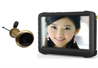 5.8G Wireless Door Peephole Camera with DVR(100m range;90 degree VOA;0.008lux;5-inch screen;800X600pix;motion detect recording)