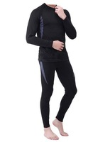 TX030 Men's Outdoors Underwear Set Quick Dry Thermal Long Johns Set Camping Hiking Cycling Set