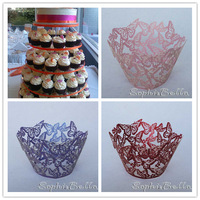 60 PCS 5 BAGS Wedding Party Butterfly Cupcake Wrappers W009 kkkkk