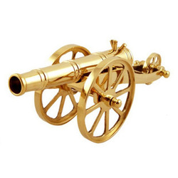 Pure Copper 8 Inch Cannon Ornaments, Decoration Atwork Handicraft Works Metal Crafts Artware Business Gifts Commercial Presents(China (Mainland))