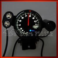 SPECIAL OFFER Original Logo BF White LED Smoke Lens 80mm Tachometer Car RPM With Shift Light + Stepper Motor