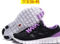 Hot!2013Free Shipping wholesales 2012 New Brand Free Run 2 running shoes, ultralight sport shoes Color Black Yellow size: 40-46M