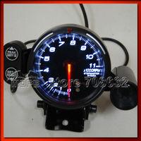 5PCS Original Logo BF White LED 11000 RPM 80mm Tachometer Meter Gauge With Shift Light + Stepper Motor
