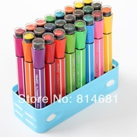 24 colors chromatape stamp water color pen watercolor pen water washable free shipping Stationery Sets paintbrush