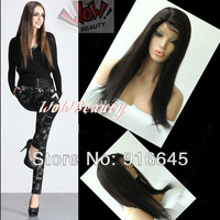 """Best choice!! One size fit all Front lace wig,Virgin Brazilian Hair,8""""-24"""",silky straight,#2"""