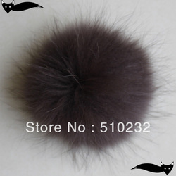 Hot Sale 13cm -14cm Multifunctional Brown raccoon fur pompom(China (Mainland))