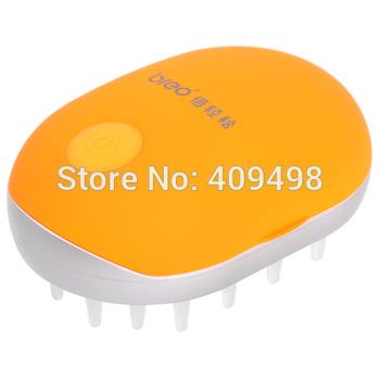 Breo M319 orange battery powered mini head massager comb
