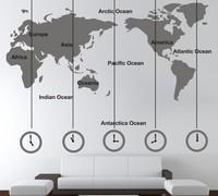 world map wallpaper sofa cozinha art contact paper vintage decor home office wall sticker pegatinas