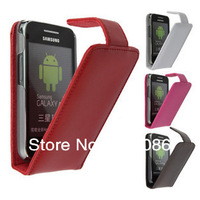 Free Shipping PU Leather Flip Case Cover For Samsung Galaxy Ace S5830