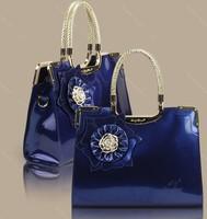 2014 new  women's red bridal hand bag marry totes gentlewomen fashion shoulder bag bright red flower
