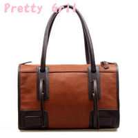 High Quality High Grade Genuine Leather Bag Vintage Knight Style Handsome Women Handbag Shoulder Bag Tote Free Shipping pg-81