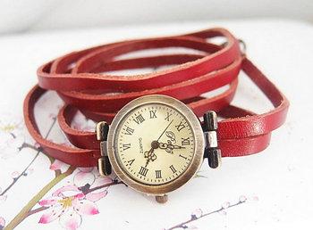 Wholesale newest Genuine Cow leather quartz watch men women fashion Wrap wrist watch KOW035