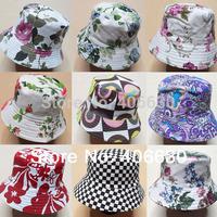 unisex adult summer bucket hat, 100% cotton, sun beach hat & cap, multiple design, free Shipping