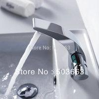 New Concept Deck Mount Beautiful Brass Basin Sink Mixer Tap Chrome Faucet L-0007