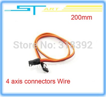NEW  10pcs/lot 200mm RC four 4 axis connectors  Wire wiring Cable for Helicopter Hot Selling boy toy