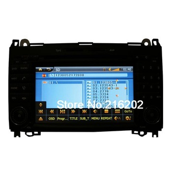Custom Car DVD Player GPS Radio System with 7& 39 & 39 HD Touch Screen For Mercedes Benz B200 E6170