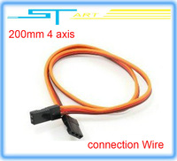 200mm RC four 4 axis connection  Wire Cable for Helicopter  Servo Extension Wire Cable line for Futaba JR Free shipping  boy toy