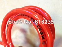 Free Shipping!!!100cm High quality motorcycle Helix Racing Products Colored Fuel Line- Red