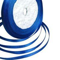 6MM ROYAL BLUE SATIN RIBBON 25 YARD DIY 10 ROLLS WEDDING