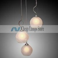 Free shipping, Fast Delivery, 100% Satisfication Guarantee - 60W Modern Pendant Light with 3 Lights in Globe Shade
