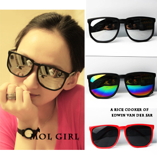 Hot Sale fashion vintage Unisex Eyeglass Mirror Sunglasses Women Freeshipping