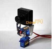 mini PTZ platform for RC FPV Pan/Tilt/Zoom aluminum alloy material weight is 8g Silver Warrior Metal Anti-Vibration Camera Mount
