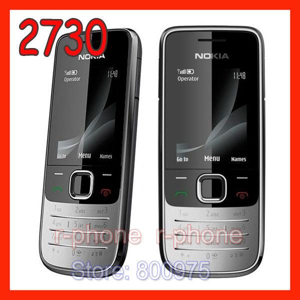 Original Nokia 2730c Mobile Phone Unlocked Cellphone Refurbished Russian Arabic English Keyboard offer One Year Warranty(China (Mainland))