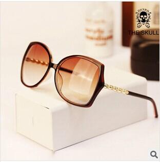 New 2014 Vintage Men Women Metal Skull Sunglasses Nerd Geek Eyewear uv400 Wholesale Freeshipping